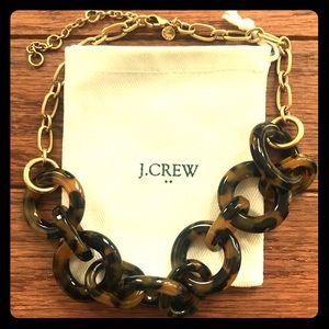 J Crew Tortoise Link Necklace